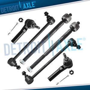 6pc Inner Outer Tie Rod Ends Sway Bar End Links For Caliber Compass Patriot