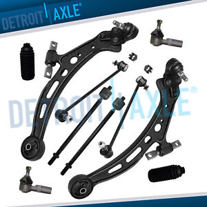10pc Complete Front Lower Control Arm Sway Bar Link Ball Joint Suspension Kit