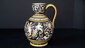 A Beautiful French Gien Water Pitcher