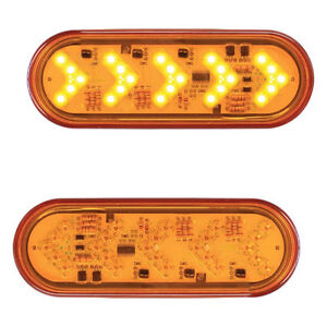 Sequential Arrow Turn Signal pair Oval Light Amber amber Semi Trucks