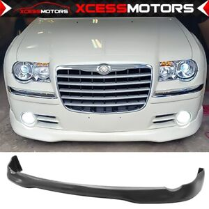 For 05 10 Chrysler 300 300c Ed Vip Style Front Bumper Lip Unpainted Pu