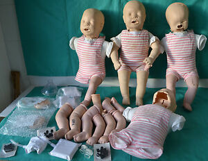 Laerdal Resusci Baby Anne 4 pack Cpr Manikins In Bag Incomplete
