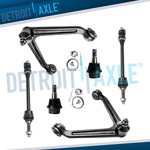 6pc Front Upper Control Arm Sway Bar Link 2002 2003 2004 2005 Dodge Ram 1500 4x4