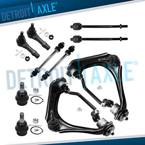 2002 2005 Ford Explorer Mountaineer Front Control Arm Sway Bar Kit 10pc 4 6l