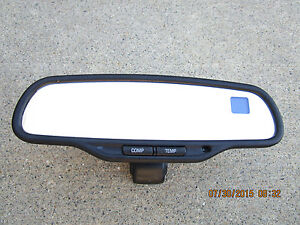 02 06 Chevy Silverado Gmc Sierra Rearview Mirror Compass Temperature Auto Dim