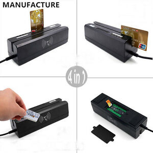 Mcr400 4in 1 Magnetic Card Writer ic Chip Rfid 13 56mhz Nfc Psam Card Reader