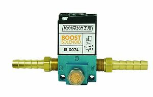 Innovate 3883 Boost Control Solenoid 3 port Mac Valve Harness Barb Fittings