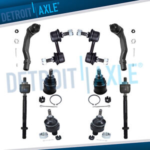 10pc Front Suspension Kit Ball Joints Tie Rod End Links For Honda Crv 1997 2001