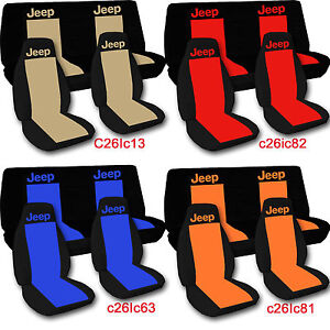 1976 2018 Jeep Wrangler Two Tone Seat Covers Canvas Front Rear Choose Color