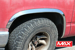 Ftch207 88 98 Chevy Ck Pickup Gmc Sierra W o Side Moldings Stainless Fender Trim