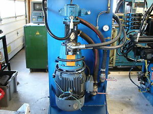 Vickers Eaton 25hp 37gpm 2500 Psi 15gpm 3000 Psi Hydraulic Power Unit Valves