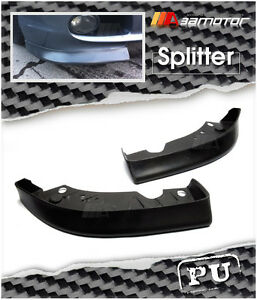Unpainted Front Splitters Set For Bmw E46 3 series Coupe Sedan M tech Ii Bumper