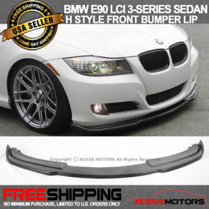 For 09 11 Bmw E90 Lci 3 Series Sedan H Style Front Bumper Lip Spoiler Pu