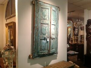 Antique Indian Mirrored Cabinet