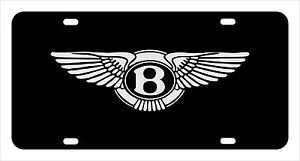 bentley License Plate Custom Made Of Chrome Plated Metal