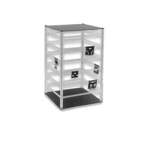 Square Counter Top Large Rotating Acrylic Earring Display Stand