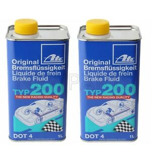 Pair Set Of 2 Ate Dot 4 Typ 200 1l Amber Color High Boiling Point Brake Fluid