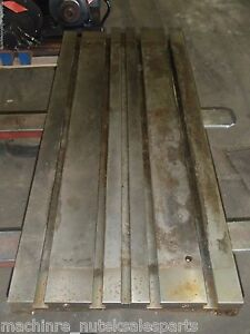 47 X 20 X 14 Steel Weld T slotted Table Cast Iron Layout Plate 4 T slots Jig