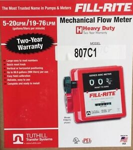 Fill rite 807c1 1 Mechanical Flow Meter