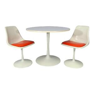 Mid Century Modern Tulip Dining Set Table And Chairs N Style Saarinen Burke