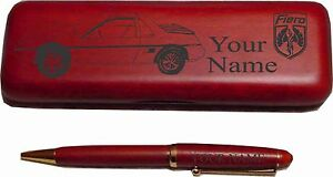 Pontiac Fiero Rosewood Pen Case Laser Engraved Nice Quality