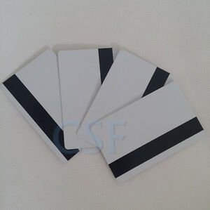 Inkjet Pvc Id Card With Magnetic Strip Hico 3 Track For Epson Canon Lots Of 50