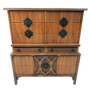 Rare Mid Century Modern Chest Of Drawers Dresser W Moroccan Influence