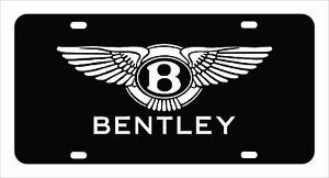bentley Bentley License Plate Custom Made Of Chrome Plated Metal
