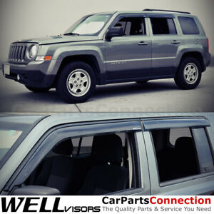 Wellvisors Window Visors 07 17 Jeep Patriot Side Deflectors
