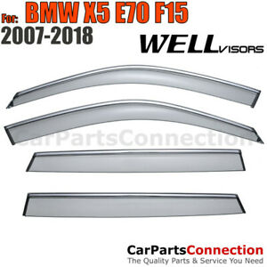 Wellvisors Window Visors 07 17 Bmw X5 E70 F15 Sun Visors Deflectors