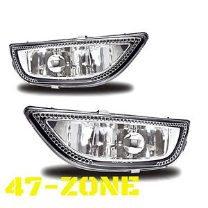 For 2001 2002 Toyota Corolla Chrome Housing Clear Lens Bumper Fog Lights Lamps