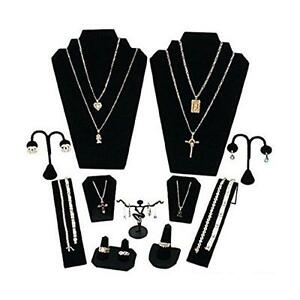 Stand Display Set Ring Earring Finger Jewelry Necklace Bracelet Show Velvet 11