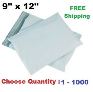 9x12 Poly Mailers Shipping Envelopes Self Sealing Plastic Mailing Bag Size