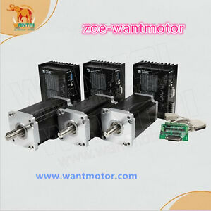 Ship From Usa Wantai 3axis Nema42 Stepper Motor 3256oz in 6 8a Cnc Kit dq860ma