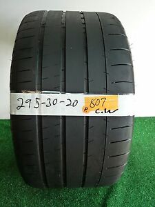 Michelin Pilot Super Sport Used Tire 295 30 20 101y 55 5 5 32nds 807