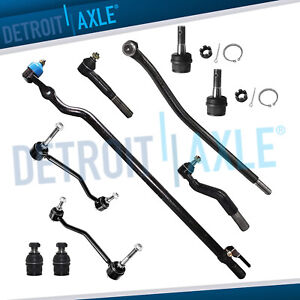 10pc Front Drag Link Tie Rod Ball Joints Ford Excursion F 250 Super Duty 4wd