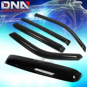 For 09 15 Honda Pilot 4dr Smoke Tint Window Sun Moon Roof Visor Shade Deflector