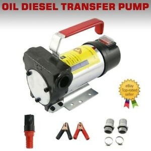 New 12v 10gpm 155w Electric Diesel Oil And Fuel Transfer Extractor Pump Motor