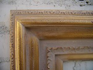 Wide Traditional Antique Soft Gold Wedding Portrait Photo Picture Frame 18x24