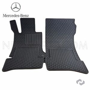 For Mercedes Genuine 09 14 C Class Factory Rubber Floor Mats Oem Factory Black