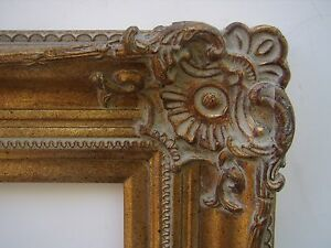 Wide Ornate Gold Traditional Decorative Victorian Picture Portrait Frame 24x36