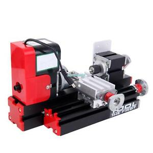 Mini Metal Motorized Lathe Machine Woodworking Power Tool Diy Model Making