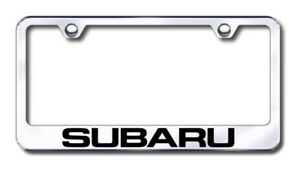 Subaru Laser Etched Stainless Steel License Plate Frame Xxxlf sub ec