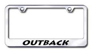 Subaru Outback Laser Etched Stainless Steel License Plate Frame Xxxlf out ec