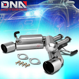 4 5 Dual Tip Stainless Steel Axle Back Exhaust System For 350z G35 Fairlady Z33