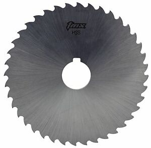 3 32 Thick X 6 Diameter X 1 1 4 Arbor Hole 42 Teeth Hss Plain Slitting Saw