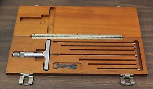 Brown Sharpe Micrometer Machinist Tool Set W Rods