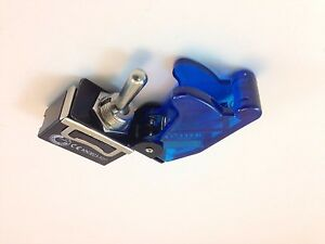 On on Dpdt 6p Toggle Switch Spade Term W cover Trans Blue 20a 661905 665019