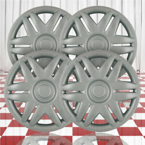15 Push On Silver 12 Spoke Hubcaps For 2000 01 Toyota Camry Qty Four