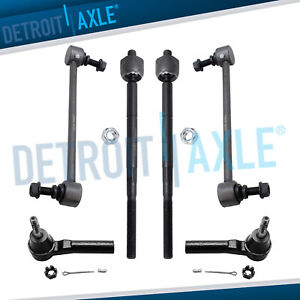 Front Inner Outer Tie Rod And Sway Bar Link Kit For 2009 2016 Dodge Journey